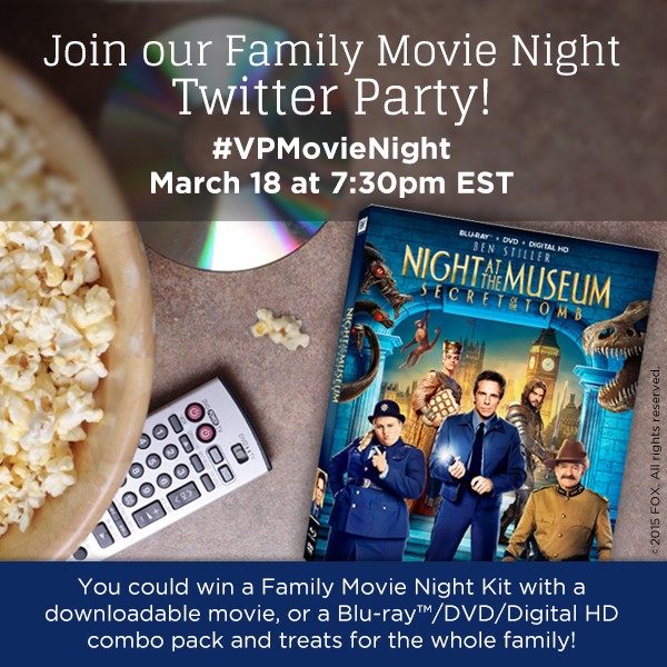 night at the museum twitter party button