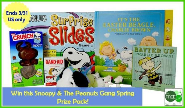 snoopy spring prize pack