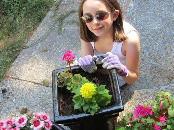 gardening finished