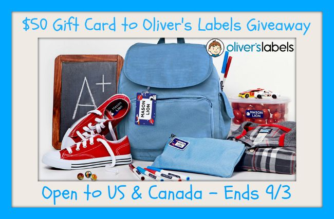 back to school button Oliver's Labels