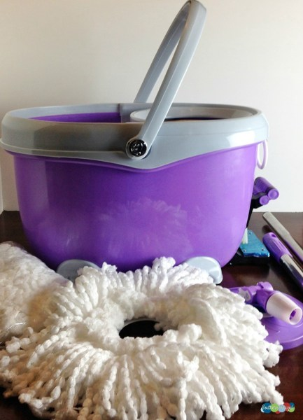Ohuhu Easy Wring Spin Mop and Bucket System