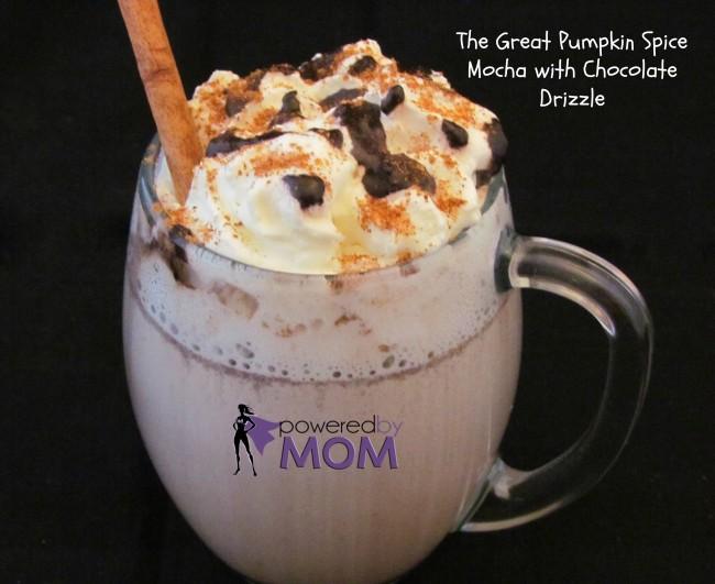 pumpkin spice mocha chocolate drizzle 2