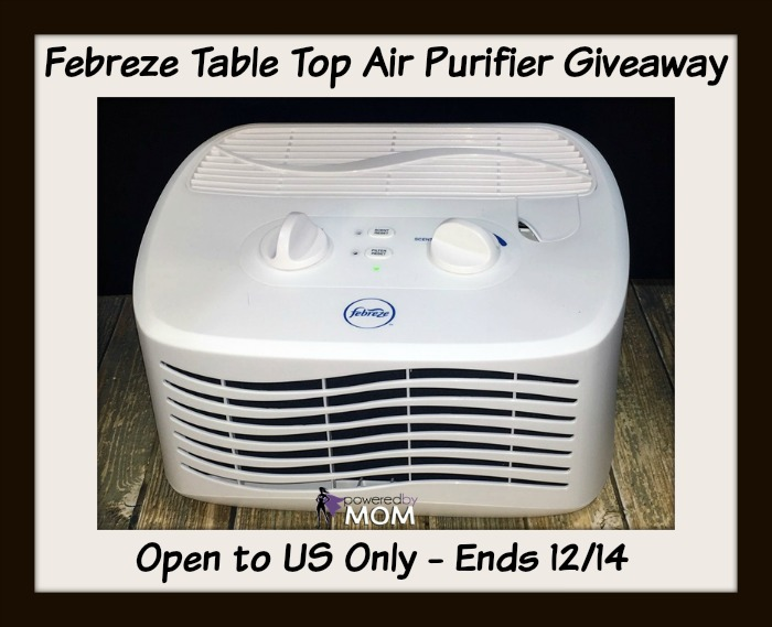 Febreze table top air purifier button