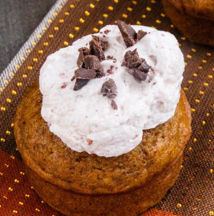 Chocolate Chip Pumpkin Muffins with Cranberry Buttercream-27