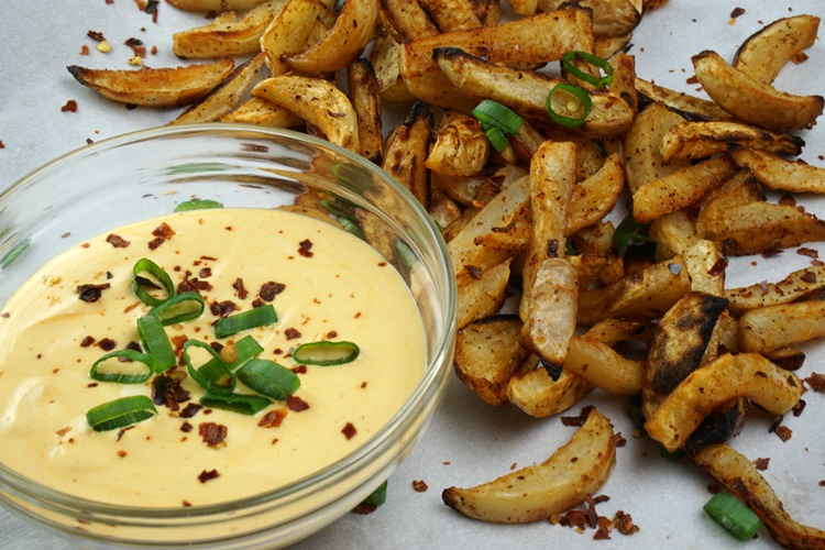 Turnip Fries & Peanut Dipping Sauce Recipe - Powered By Mom