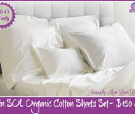 SOL organic cotton sheets