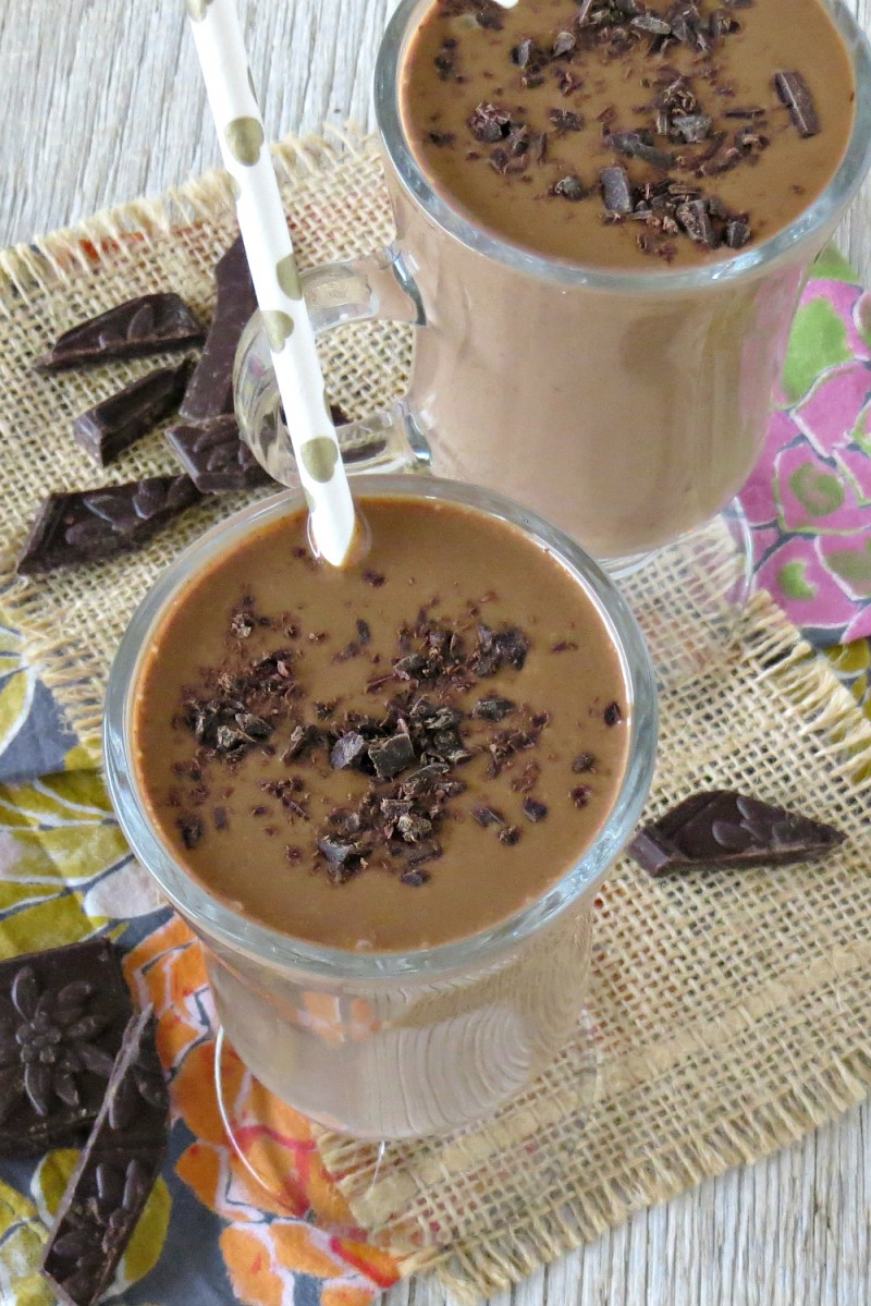 dark chocolate peanut butter banana smoothie (6)