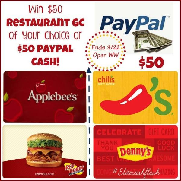 50 paypal or restaurant gc giveaway powered by mom - Cuisine flash but ...