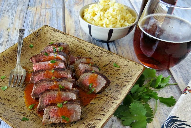 Pan-Seared Steak with Sriracha Cilantro Butter