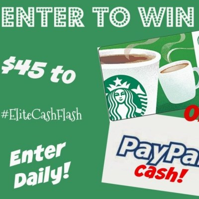 $45 Starbucks Gift Card Giveaway