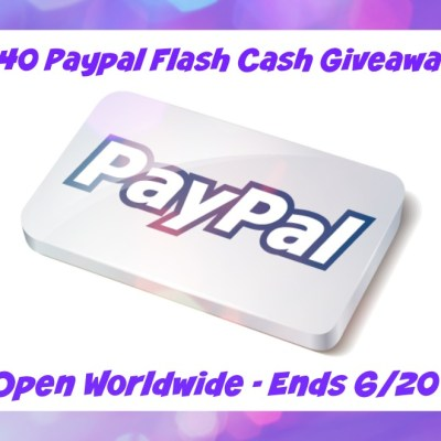$40 Paypal Flash Cash Weekend Giveaway