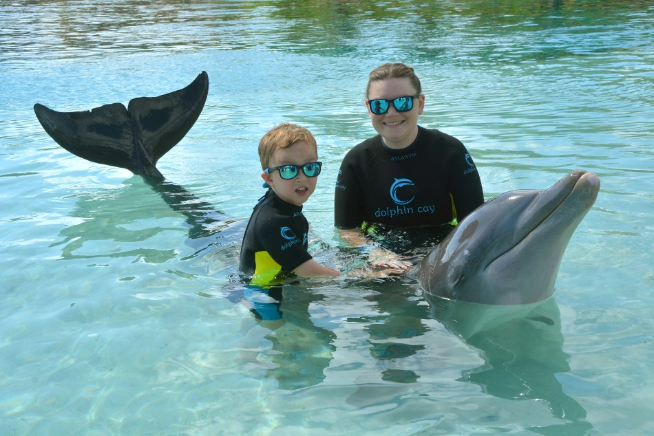 Arena and Andrew with Dolphin