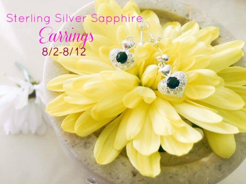 Sterling Silver Sapphire Earrings giveaway