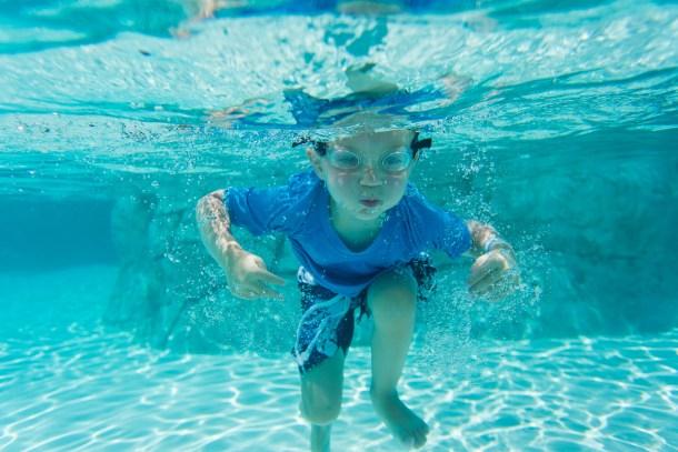 Swimming at Paradise Island
