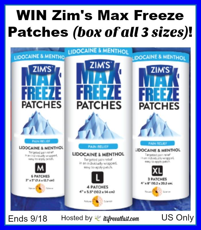 Zim's Max Freeze Patches