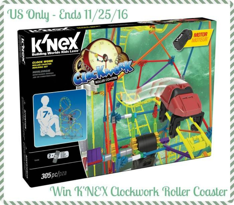 K'NEX Clock Work Roller Coaster Build Set Giveaway!