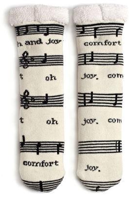 music-fleece-socks