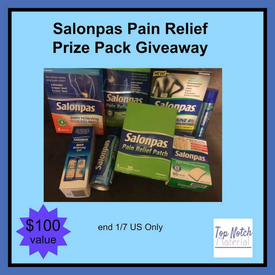 Salonpas Pain Relief Prize Pack Giveaway