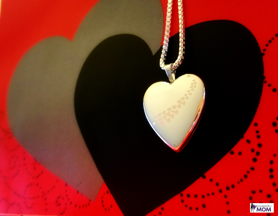 Pictures On Gold heart locket necklace