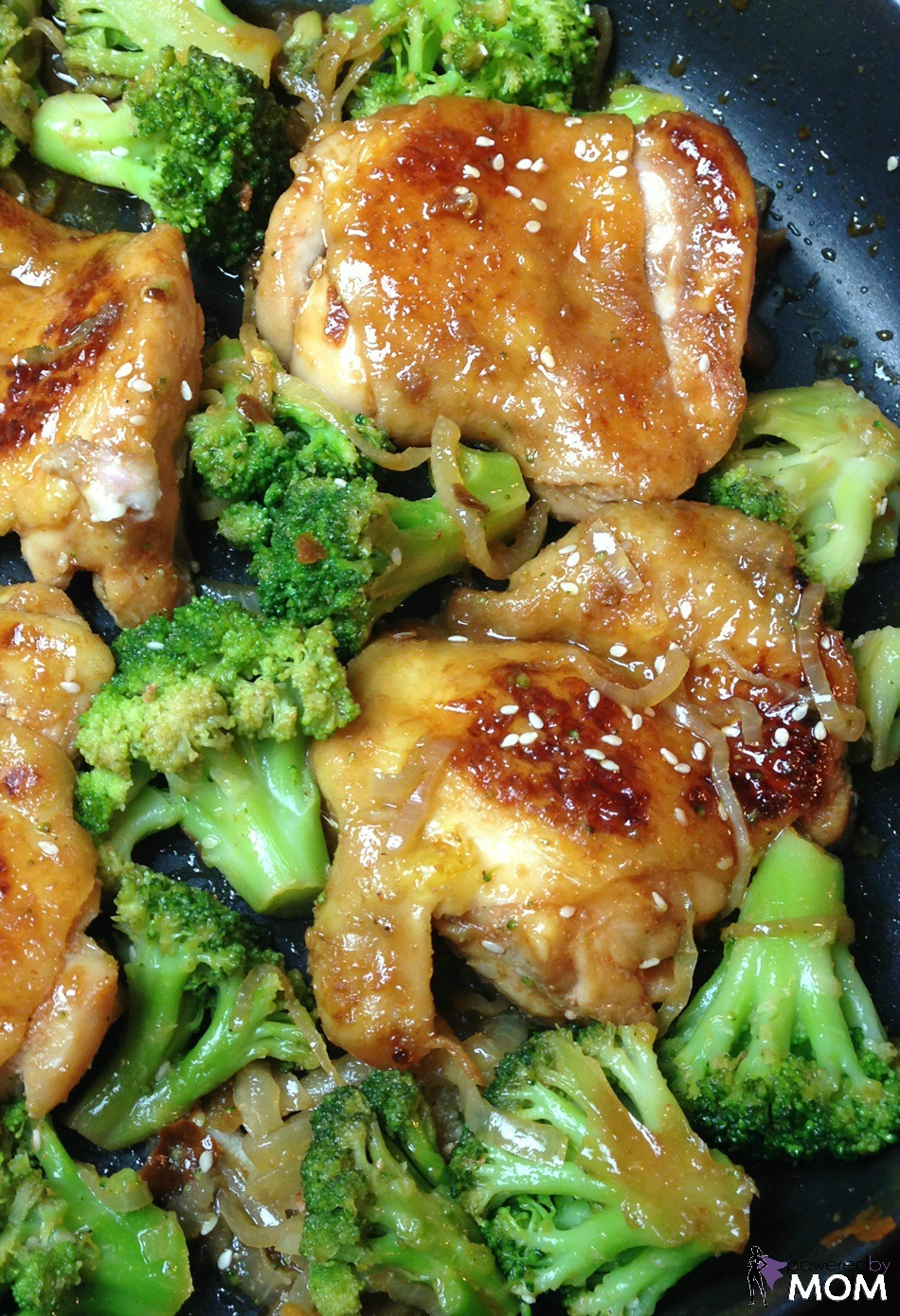 Honey Sriracha Chicken skillet vertical