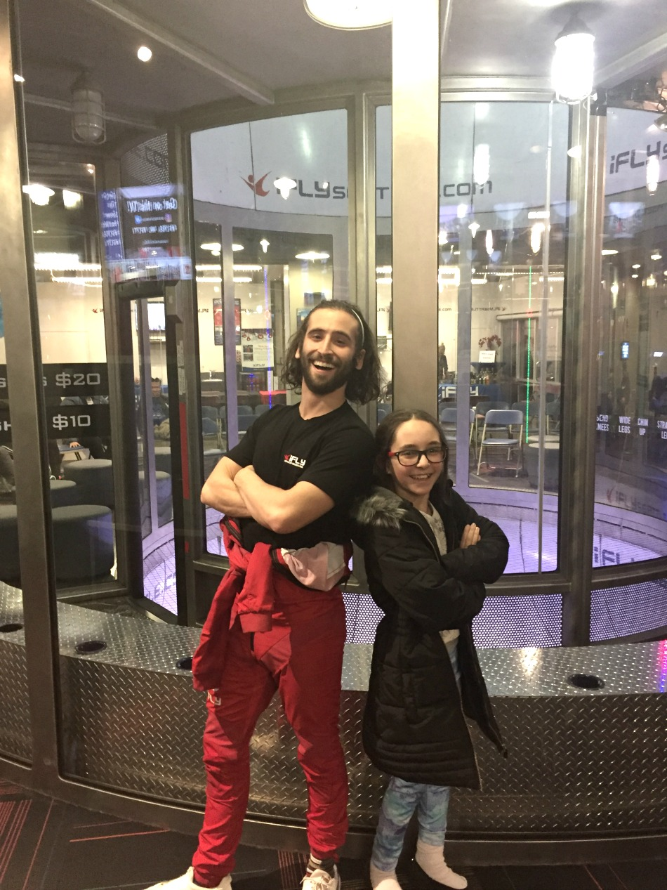 ifly daughter with instructor