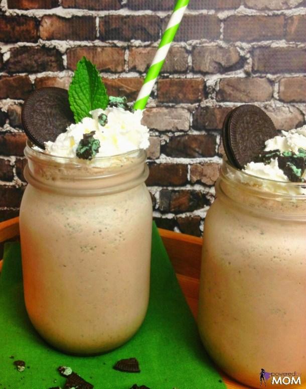 Cookies 'N Cream Mint Chocolate Milkshake