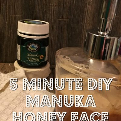 5 Minute Honey Face Wash with essential oils DIY