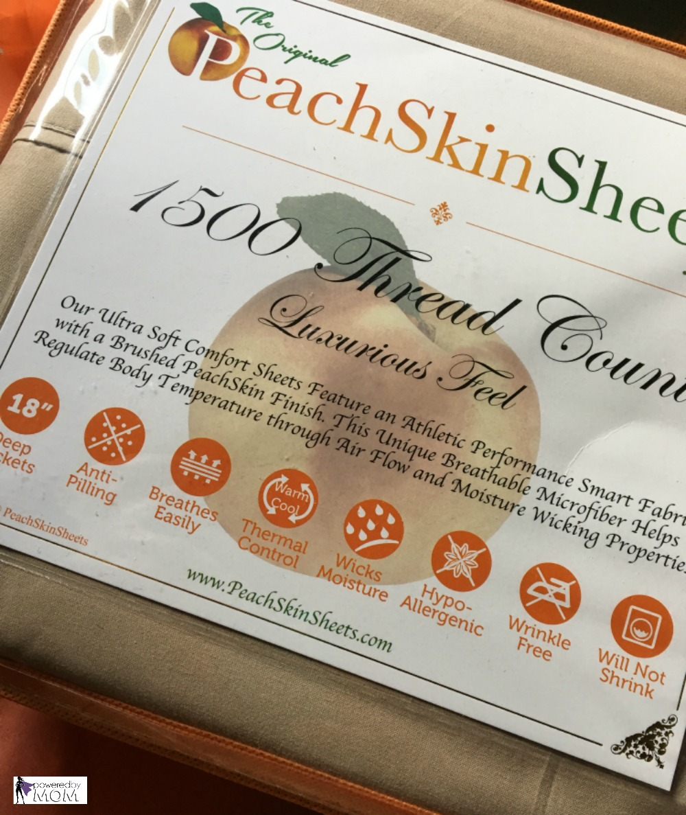 Luxurious PeachSkinSheets Packaging