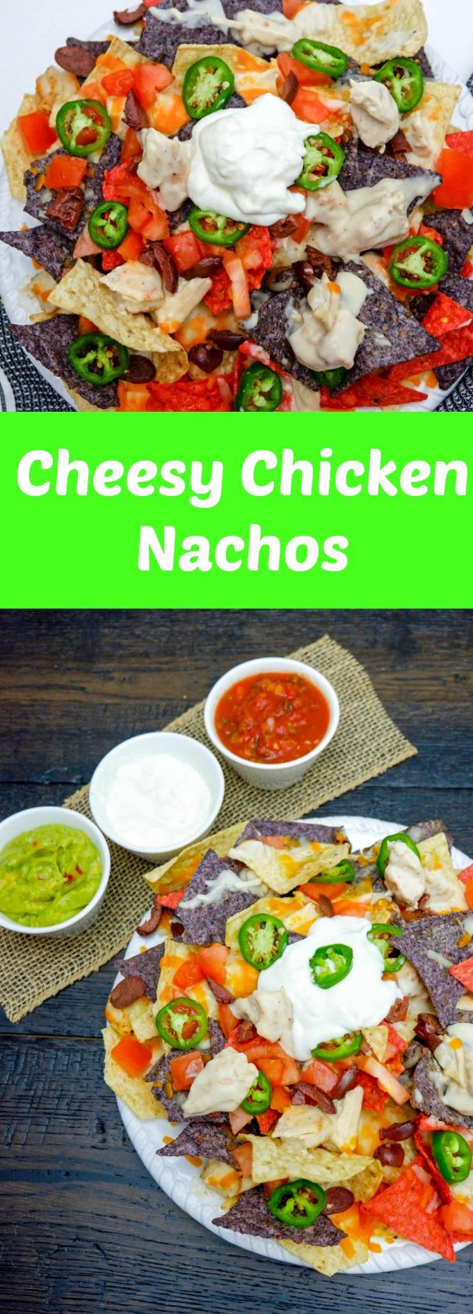 Cheesy Chicken Nachos