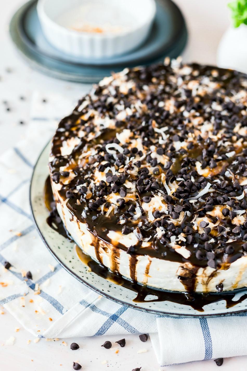 No Bake Samoa Cheesecake