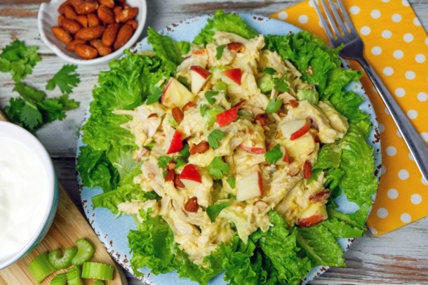 Curry Chicken Salad with Peach Yogurt