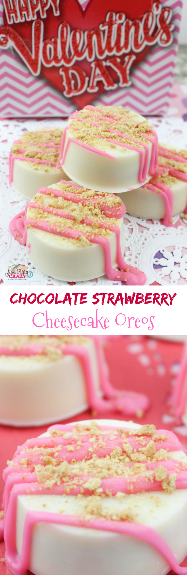 chocolate strawberry cheesecake Oreos