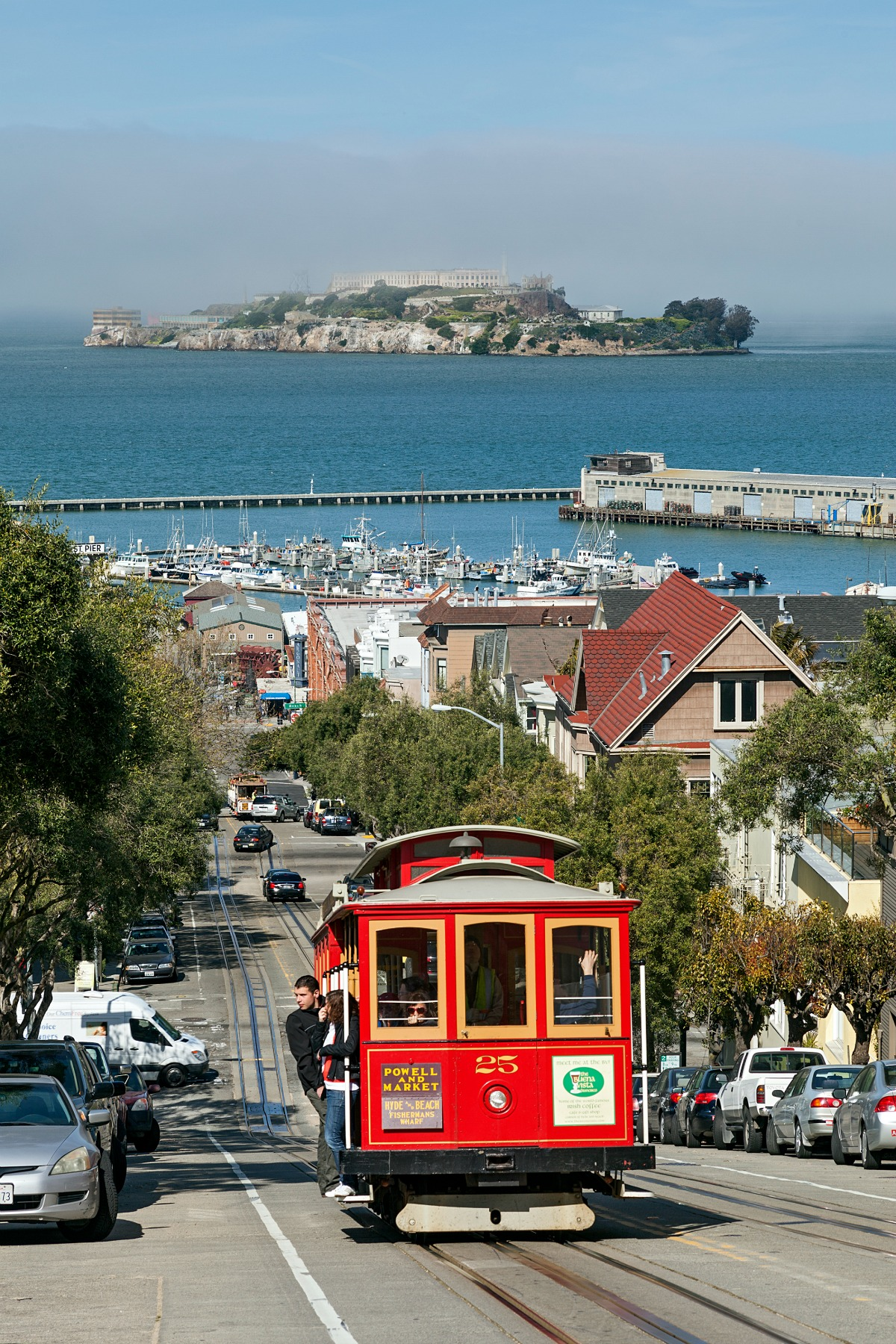 Go for a ride on a cable car in San Francisco