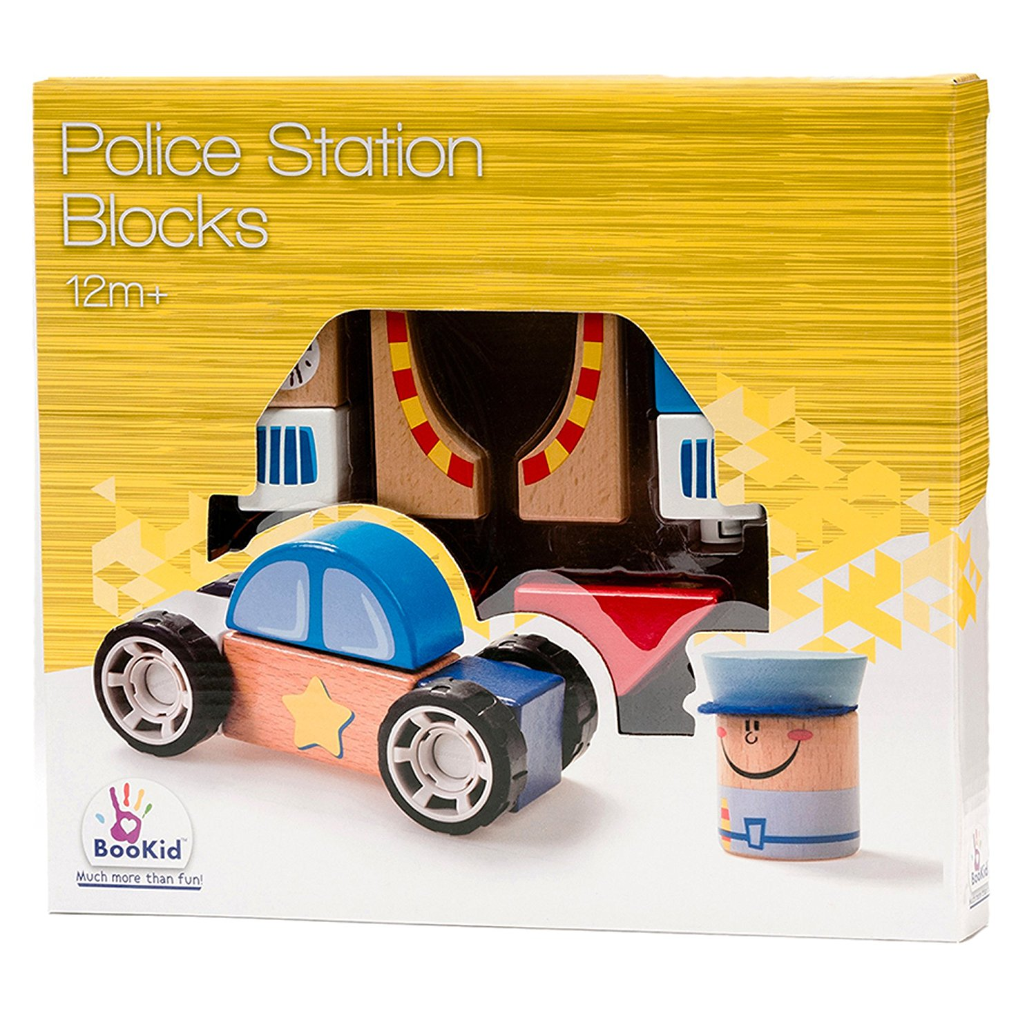 Police Car Wood Blocks - Powered by Mom