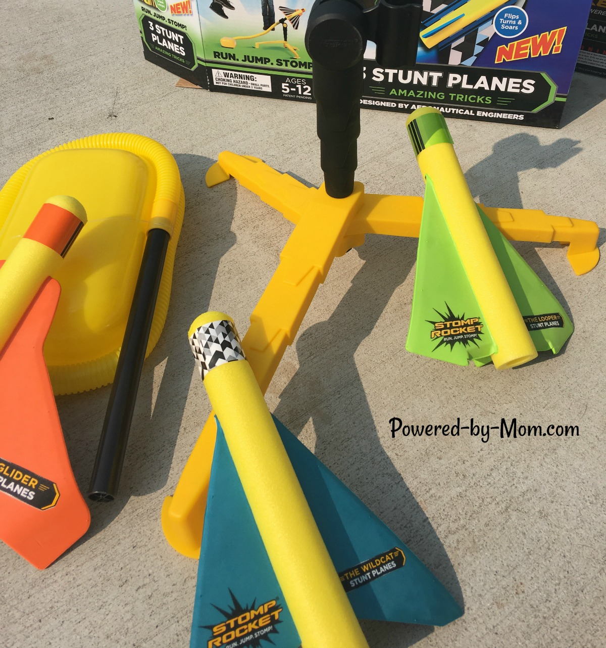 Stomp Rocket Stunt Plane - Powered by Mom