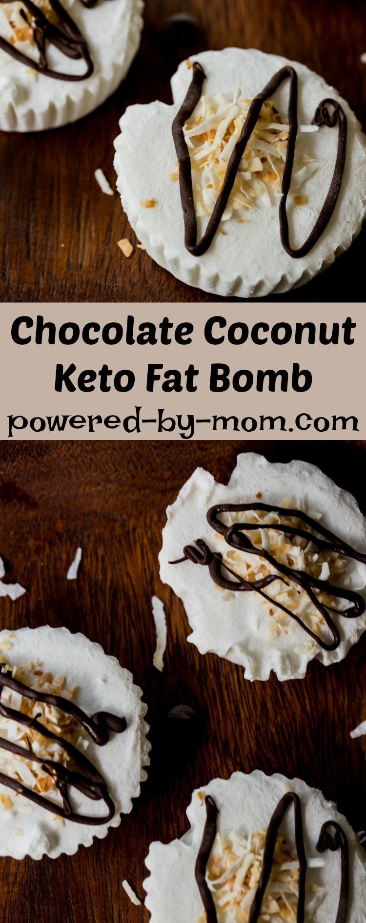 chocolate coconut keto fat bomb