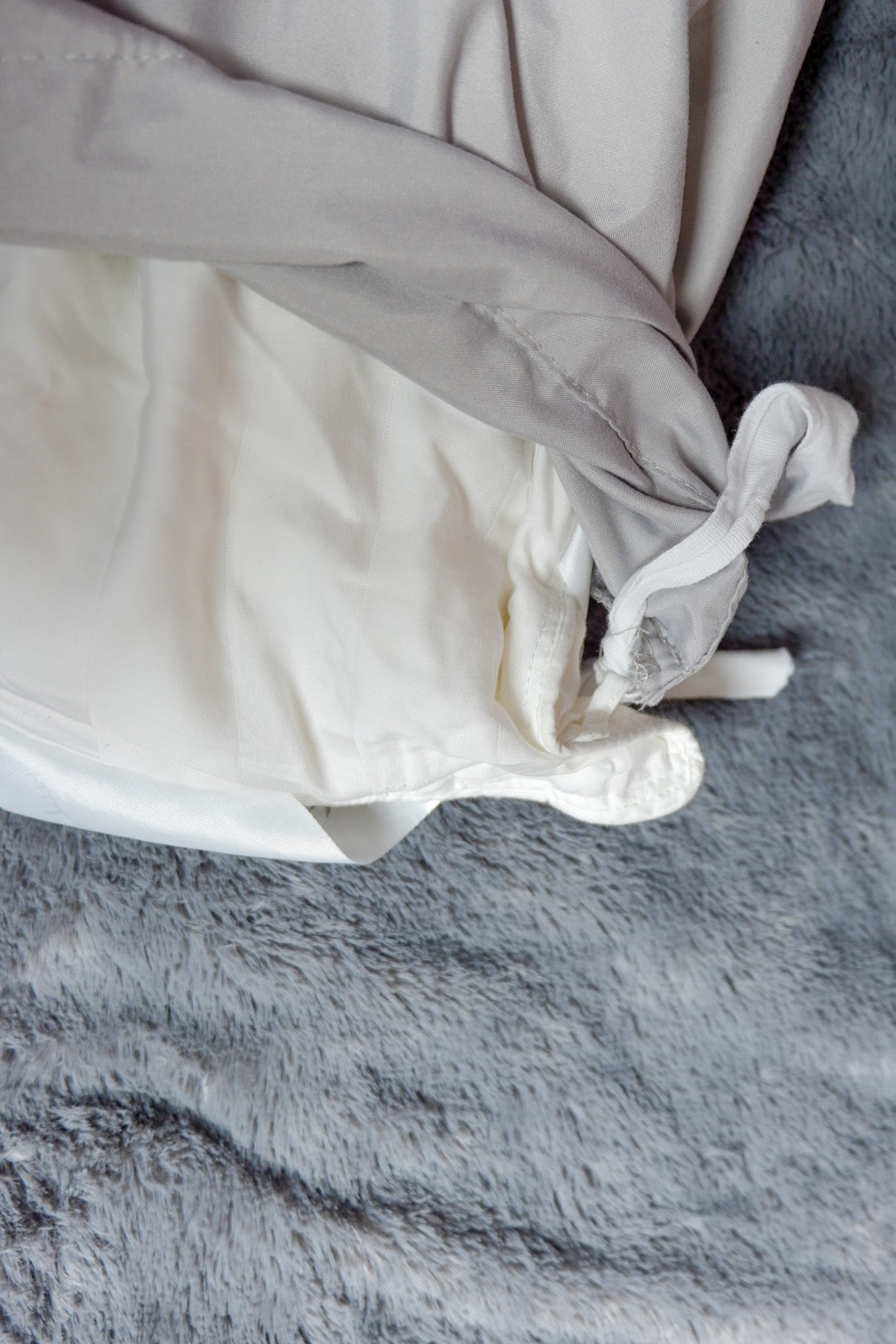 grey duvet cover