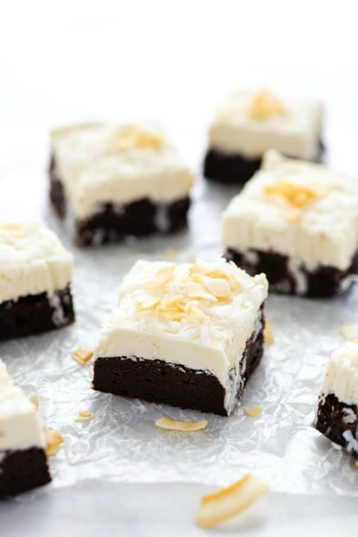 Gluten Free Brownies with Coconut Frosting