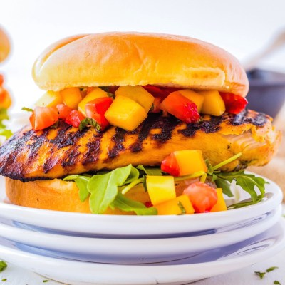 Asian Fusion Chicken Burger Recipe