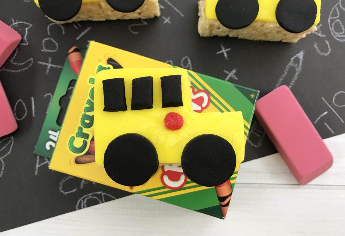 how to make rice krispie treats school bus