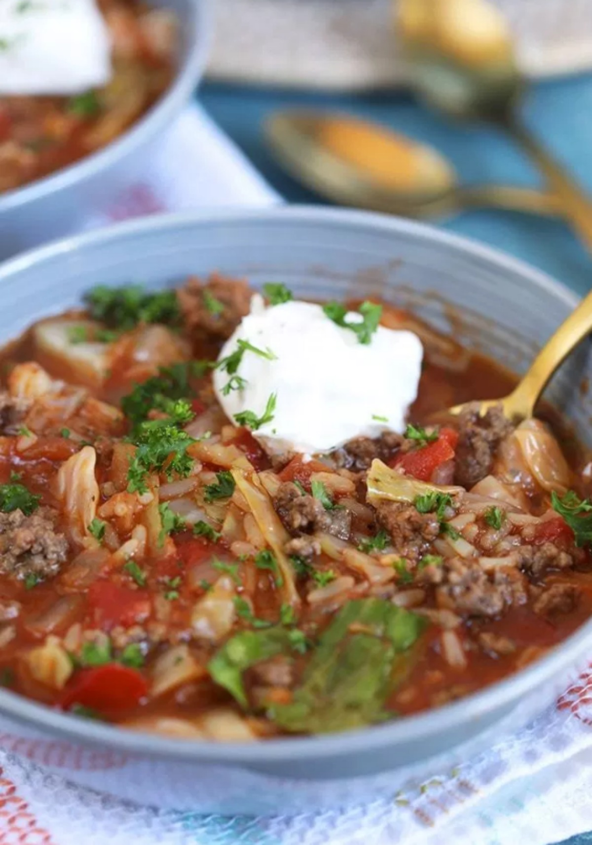 The Very Best Stuffed Cabbage Soup Recipe