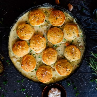 cast iron chicken pot pie