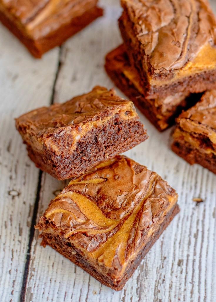 Easy Pumpkin Swirl Cheesecake Brownies