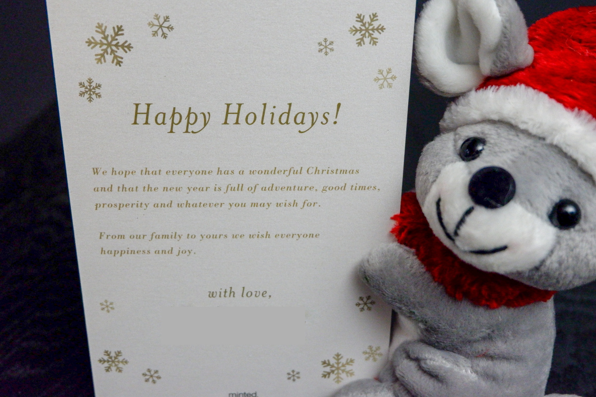 personalized holiday gift cards