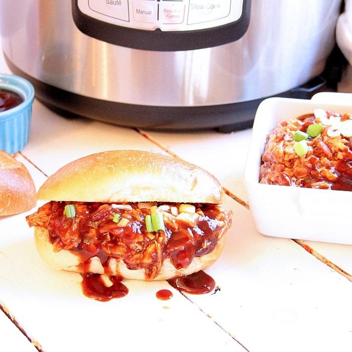 Instant Pot Pulled Hawaiian BBQ Chicken
