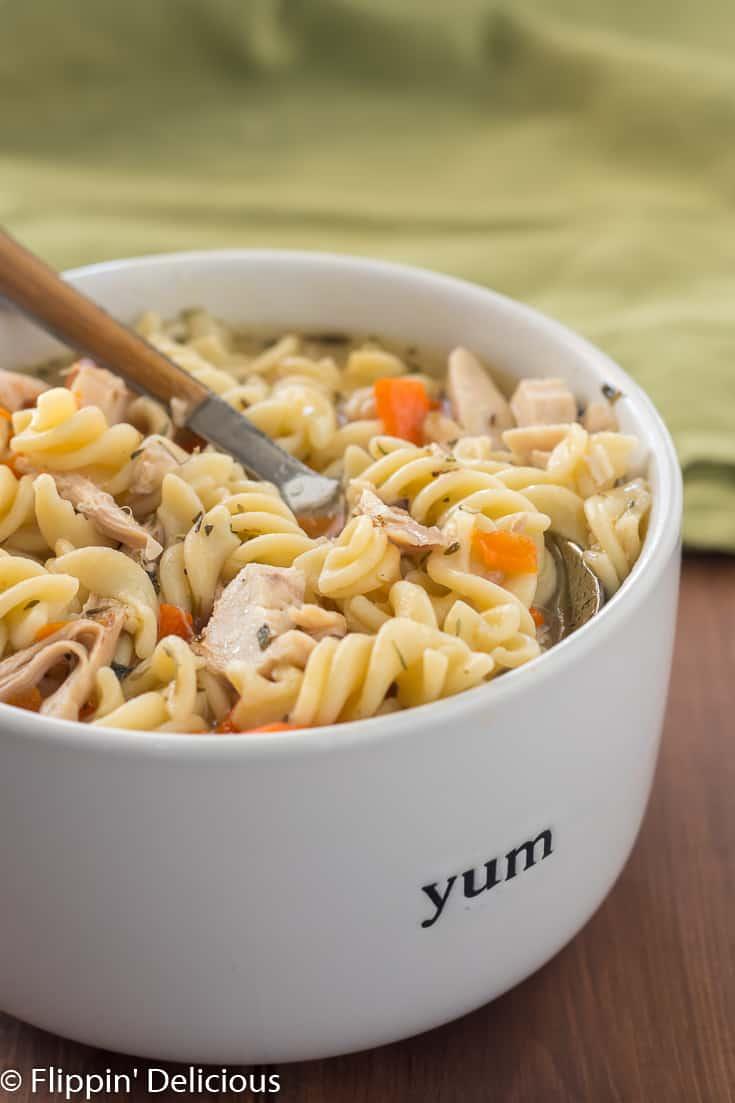 Instant Pot Gluten Free Chicken Noodle Soup