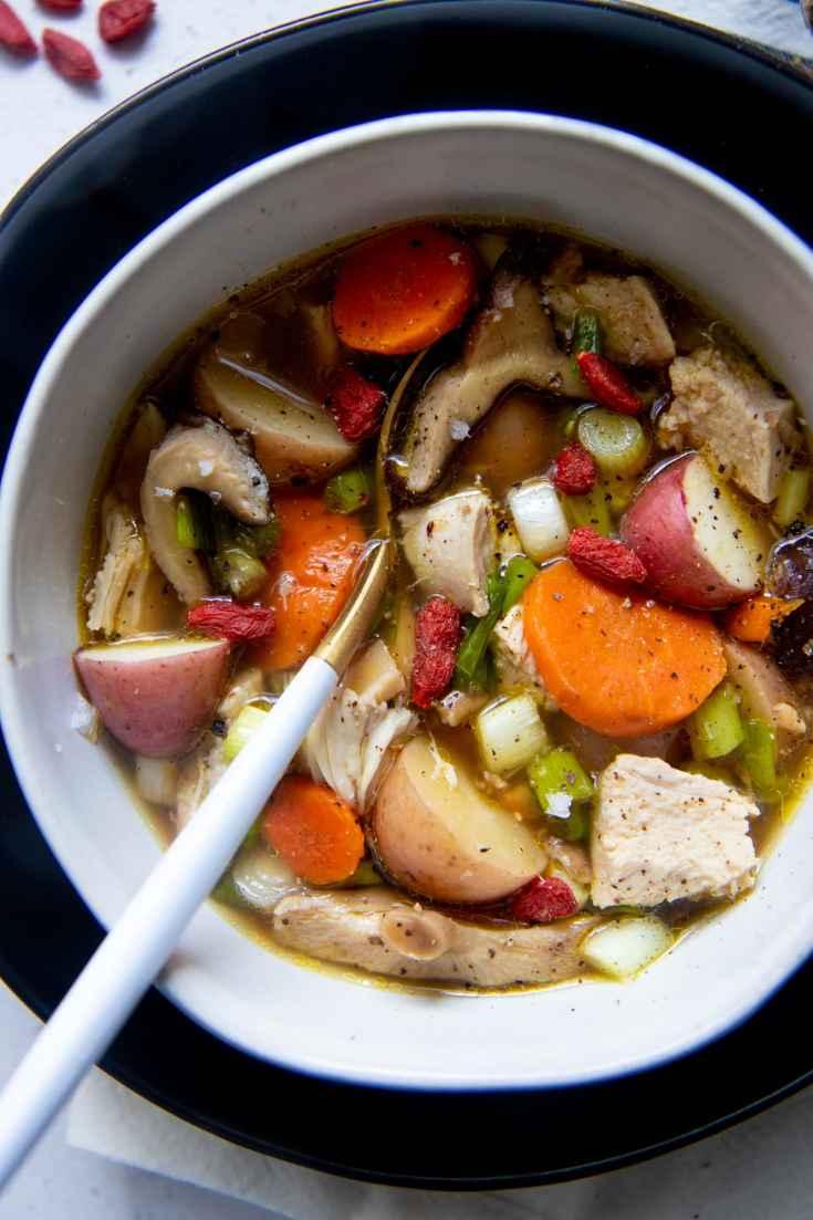 Healing Instant Pot Herbal Chicken Soup