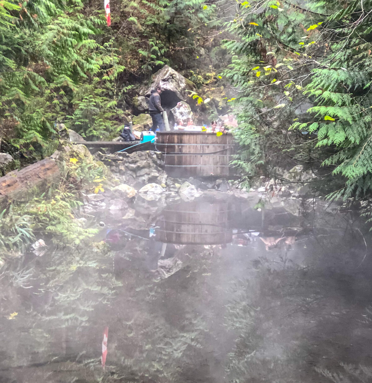 Natural hot springs in Harrison Mills