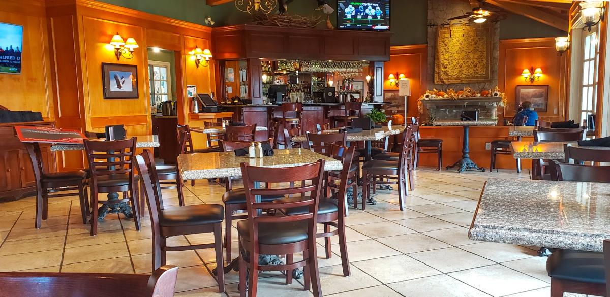 Inside of the River's Edge Restaurant