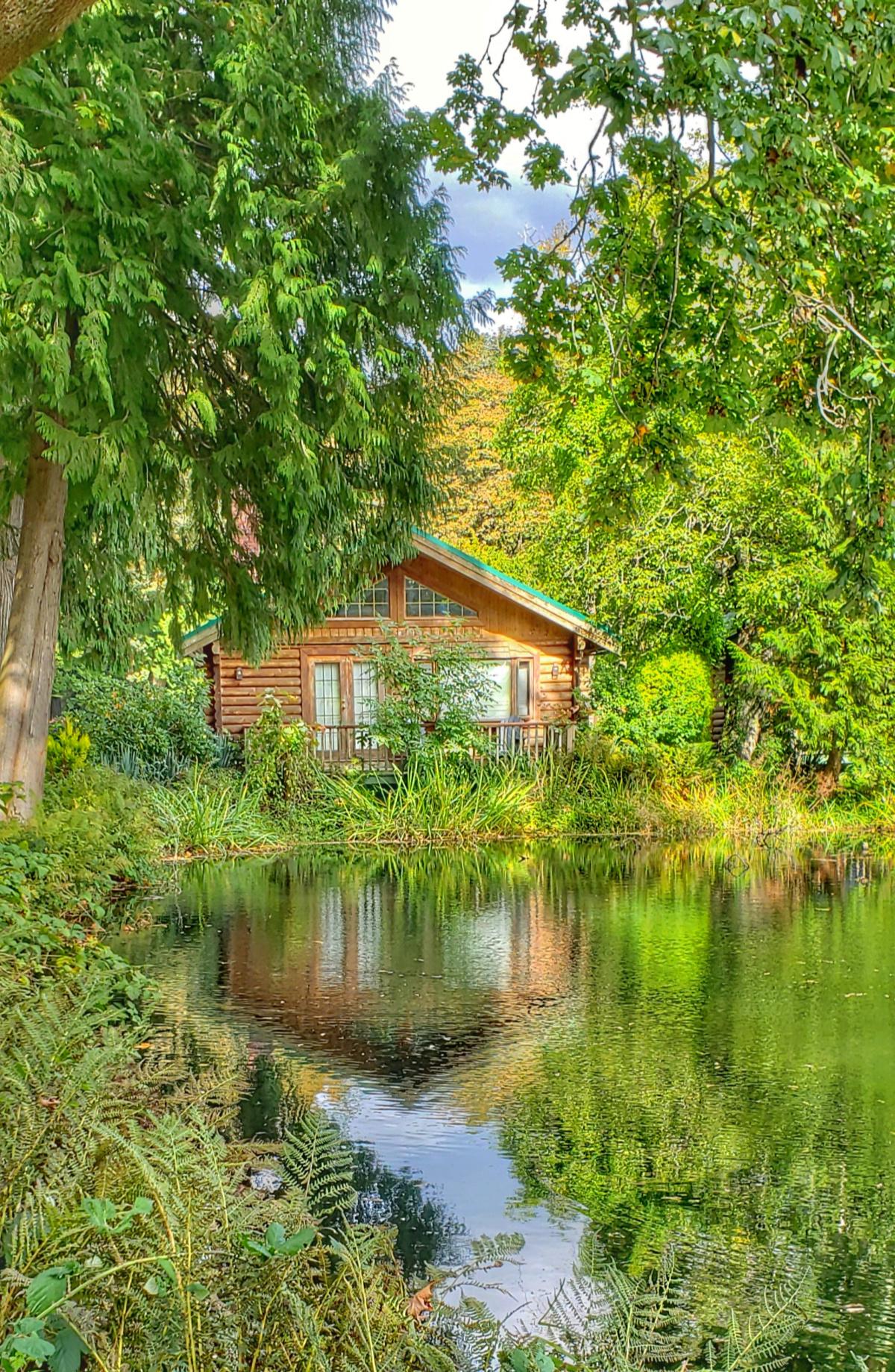 rustic cabins at Sandpiper resort Harrison Mills
